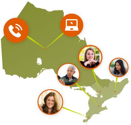 Dalton Associates - Choose a Therapist - Ontario map